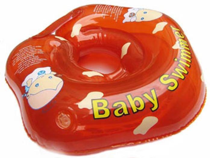 Круг BabySwimmer 3-12кг Красный полуцветный+внутри погремушка BS02R-B