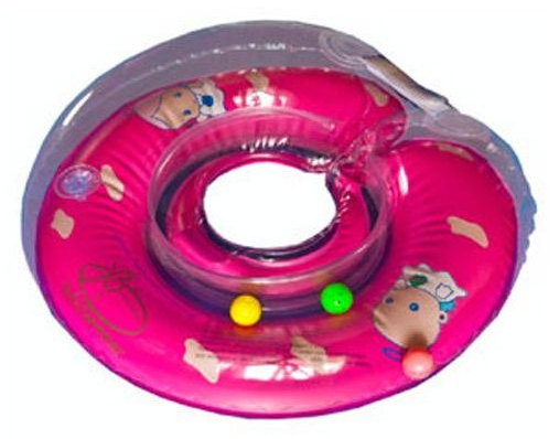 Круг BabySwimmer 6-36кг Розовый Полуцветный+внутри погремушка BS12A-B