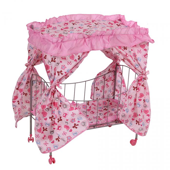 Кукольная кроватка Melobo розовый 9350A