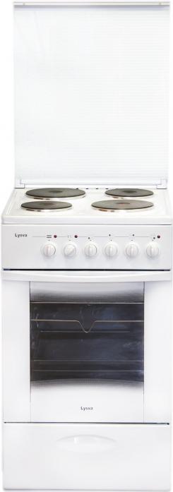 Электрическая плита Лысьва ЭП 4/1э03 М2С белая, стеклянная крышка