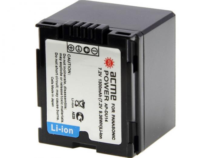 Аккумулятор ACMEPOWER AP-DU14 для PANASONIC (7.2V, 1300 mAh, Li-Ion)