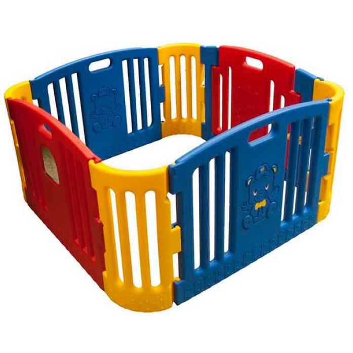 Манеж Edu-Play синий/красный/желтый GP-8011R