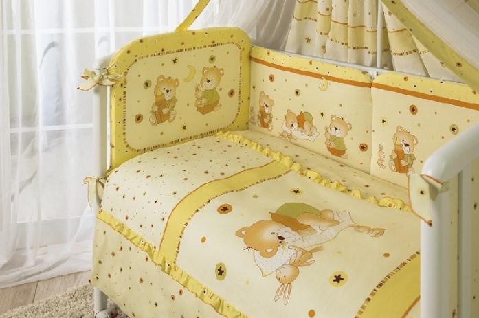 Комплект постельного белья Perina НИКА МИШКА НА ПОДУШКЕ Бежевый Н7-01.2