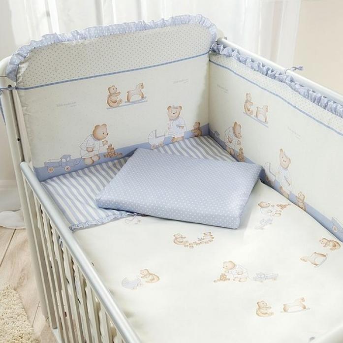 Комплект в кроватку Perina Тиффани 4 предмета Голубой Т4-01.4