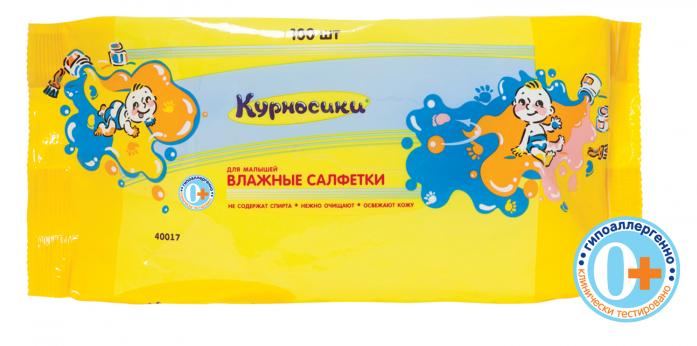 Салфетки Курносики для малышей 100шт 40017