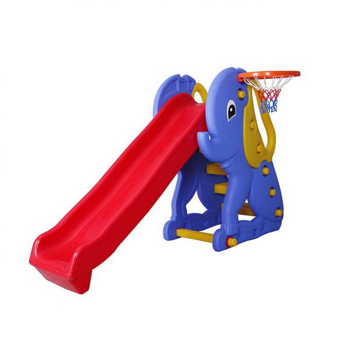 Горка-комплекс Pilsan Elephant Slide с баскетбольным кольцом 06160