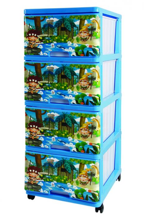 Ящик для игрушек Dunya Plastic Джунгли Синий 0403-11
