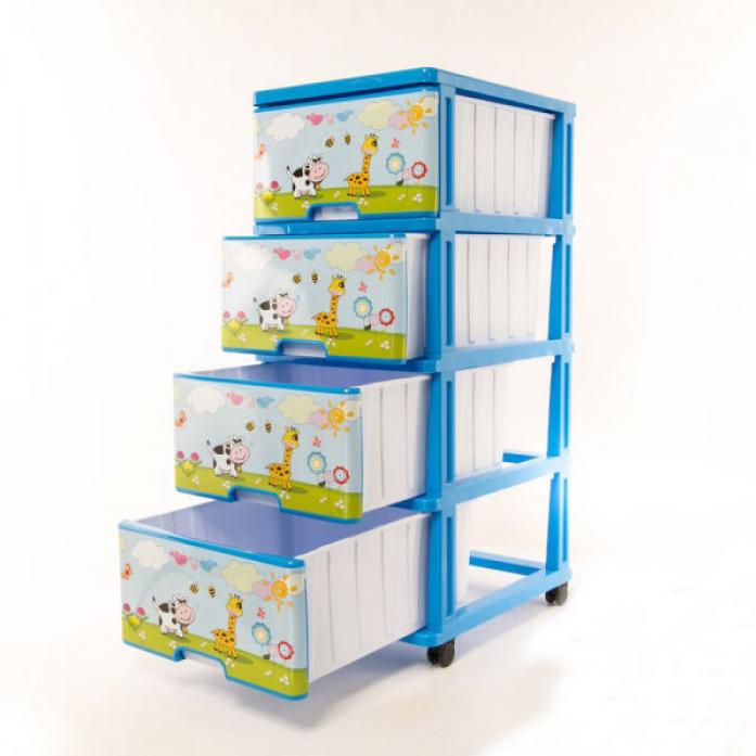 Ящик для игрушек Dunya Plastic На лужайке Голубой 0403-9