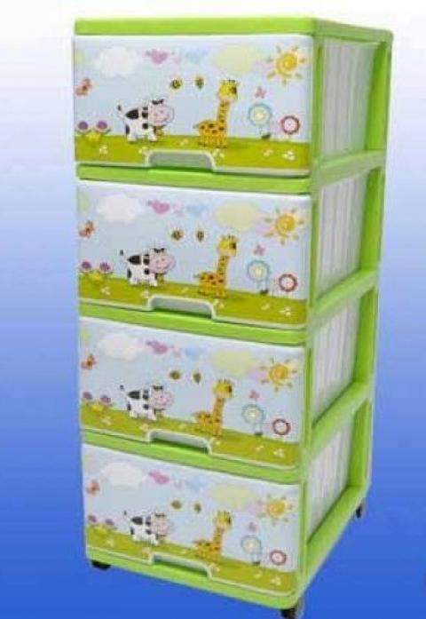 Ящик для игрушек Dunya Plastic На лужайке Зеленый 0403-10