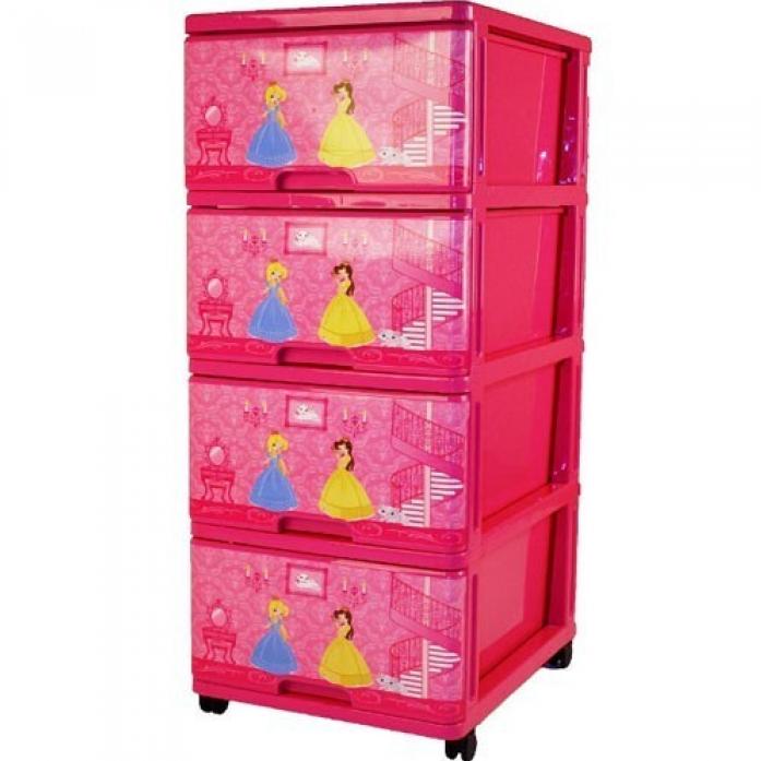 Ящик для игрушек Dunya Plastic Принцесса Розовый 0403-1
