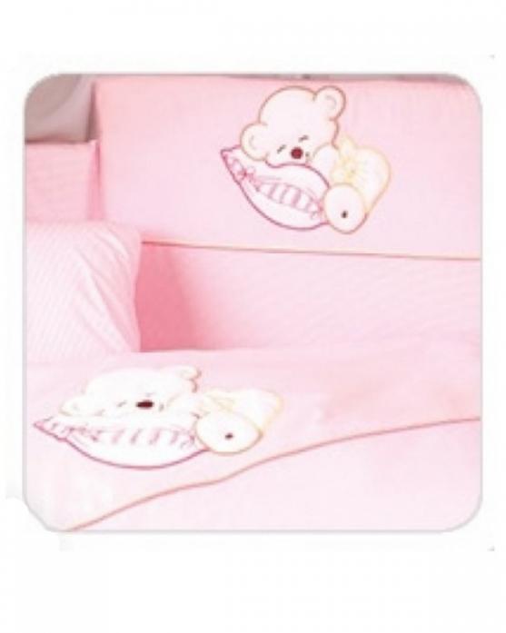 Комплект постельного белья Tuttolina SLEEPING BEAR 6HD/52 розовый
