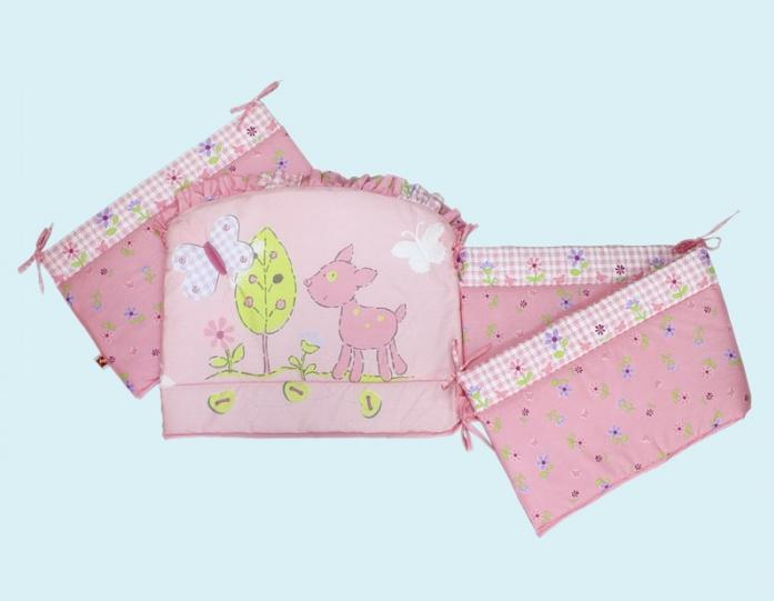 Бампер для кроватки Золотой Гусь Little Friend 3966 розовый