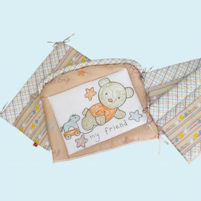 Бампер для кроватки Золотой Гусь Zoo Bear 3953 бежевый