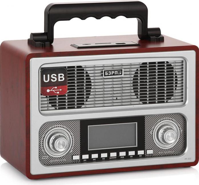 Радиоприемник СИГНАЛ БЗРП РП-311 коричневый