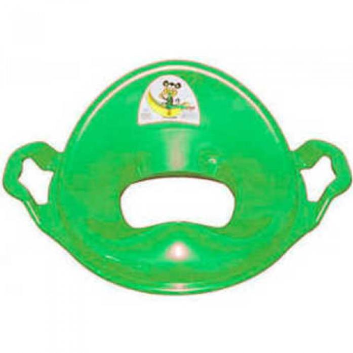 Накладка на унитаз Dunya Plastic с ручками салатовый/зеленый 11107