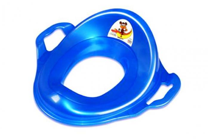 Накладка на унитаз Dunya Plastic с ручками синий 11107