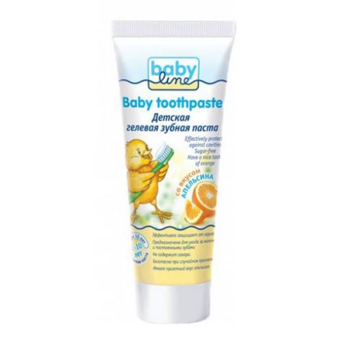 Детская зубная паста Babyline со вкусом апельсина 75мл от 2-10лет