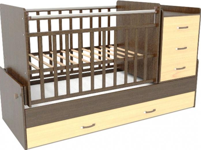 Кровать-трансформер СКВ СКВ-5 534038-5 венге фасад береза