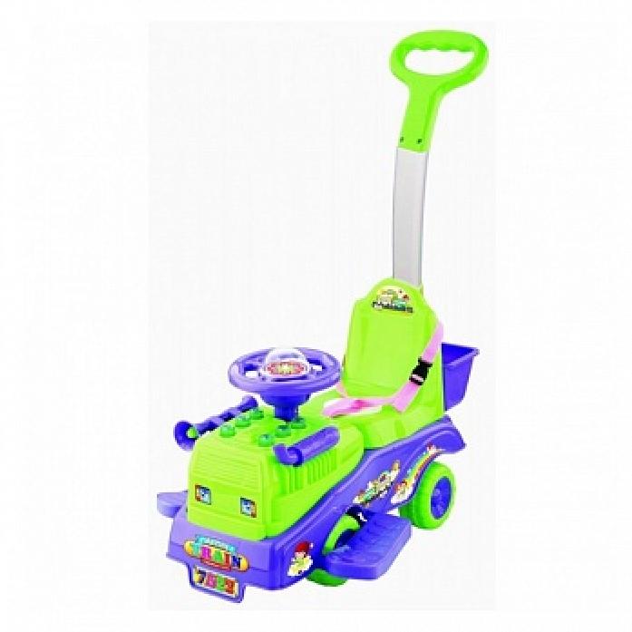 Каталка Toysmax Трейлер фиолетовый с ручкой 7322
