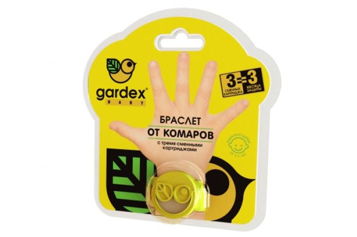 Браслет Gardex Baby от комаров с картриджами с 2-х лет