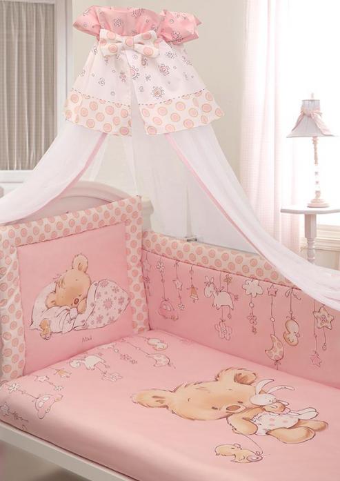 Комплект постельного белья Золотой Гусь Mika сатин розовый 7 предметов 1116