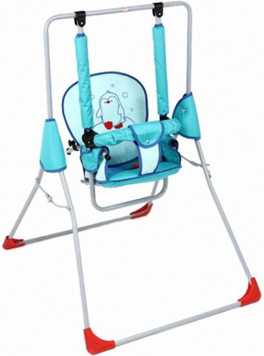 Качели Фея Малыш супер люкс с вышивкой голубой 1024-1