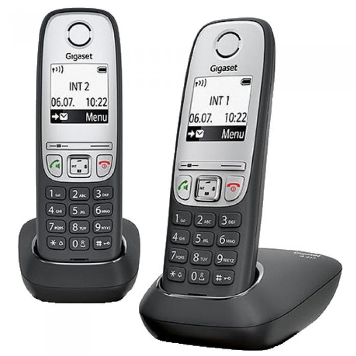 Радиотелефон Siemens Dect Gigaset A415 DUO RUS BLACK