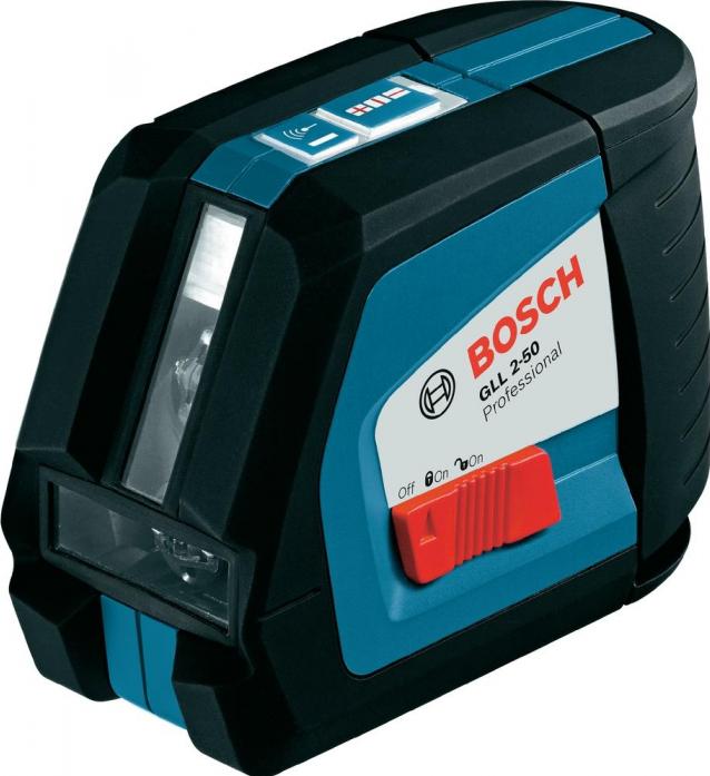 Линейный лазерный нивелир Bosch GLL 2-50 + вкладка под L-Boxx 0.601.063.104