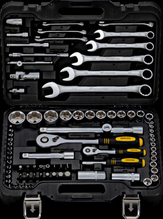 Набор инструментов 82 предмета Berger BG082-1214