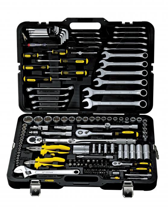 Набор инструментов для автомобиля 141 предмет Berger BG141-1214
