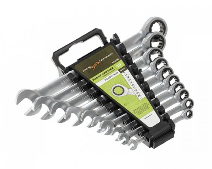 Набор комбинированных ключей с трещоткой 10 шт ДТ/10 Дело Техники 515100
