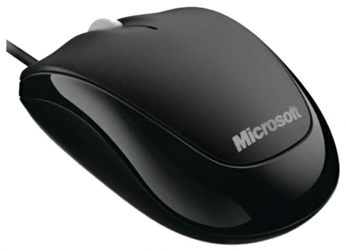 Мышь Microsoft Compact Optical Mouse 500 Black USB U81-00083