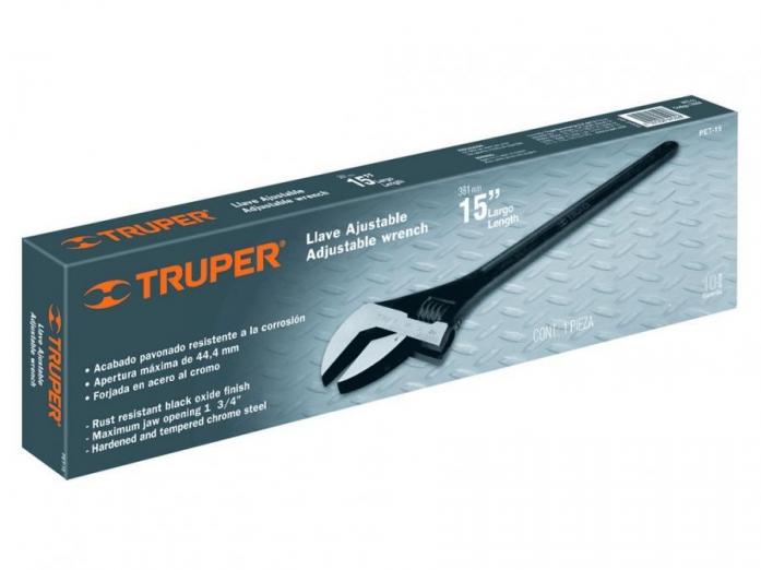 Профессиональный разводной ключ Truper PET-18 15498