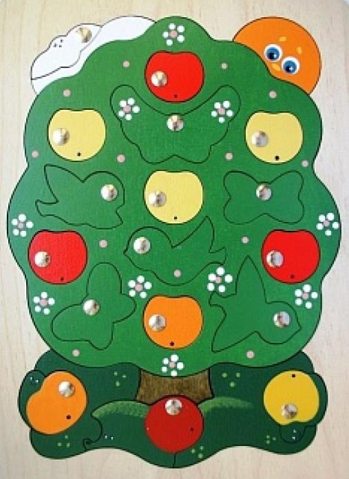 Игрушка Крона Магнитная мозаика Яблоня-загадка 143-027