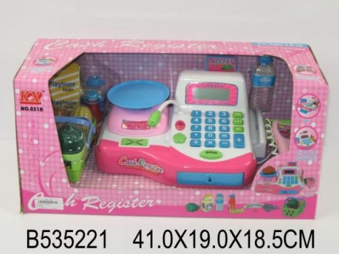Игровая касса Shantou Gepai с весами, сканером и набором продуктов 031A