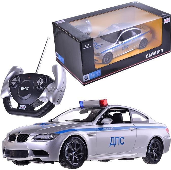Машина радиоуправляемая Rastar 1: 14 BMW M3 Police 02 48000-52