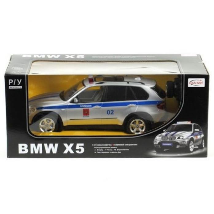 Машина радиоуправляемая Rastar 1: 14 BMW X5 полицейская 23200-4