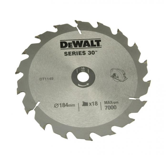 Диск пильный DeWalt 184х16мм DT 1149