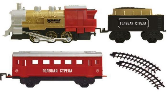 Железная дорога Голубая стрела 282см локомотив, тендер, вагон 2092