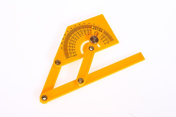Пластиковый угломер-квадрант 180 гр. 90-155мм FIT DIY 19301