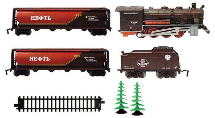 Железная дорога Голубая стрела паровоз,тендер, 2цистерны 2021A