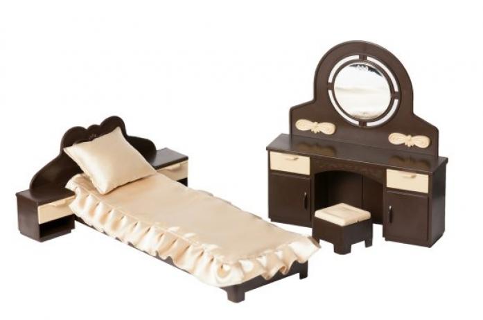 Набор кукольной мебели Огонек для спальни Коллекция С-1303