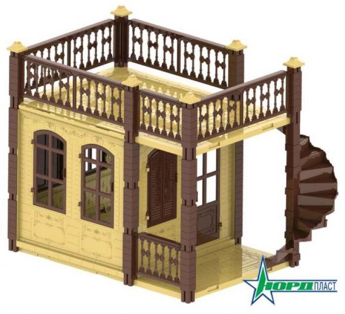Домик для кукол Нордпласт Замок Принцессы 1 этаж, бежевый 590/1