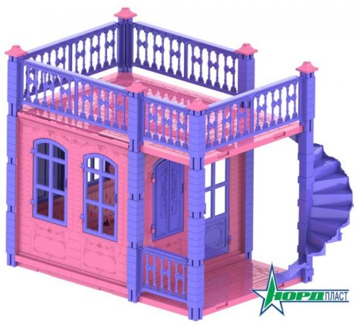 Домик для кукол Нордпласт Замок Принцессы 1 этаж розовый 590/2