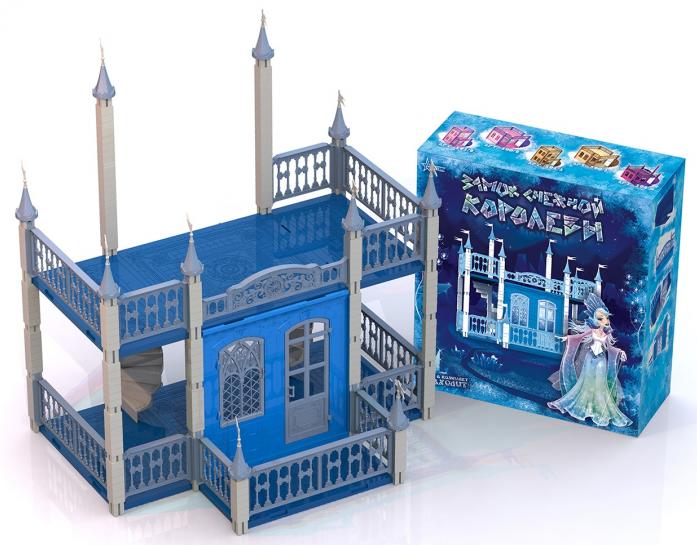 Домик для кукол Нордпласт Замок Снежная Королева 593