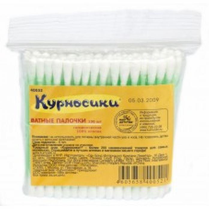 Ватные палочки Курносики 100 шт в пакете 40052