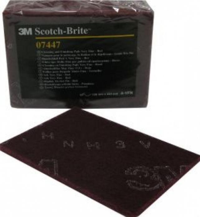 Скотч-брайт 3M сверхтонкий пурпурн. лист 158 х 224мм (07447)