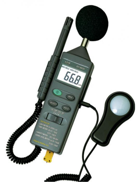 Многофункциональный тестер окружающей среды 4 в 1 СЕМ DT-8820 480700