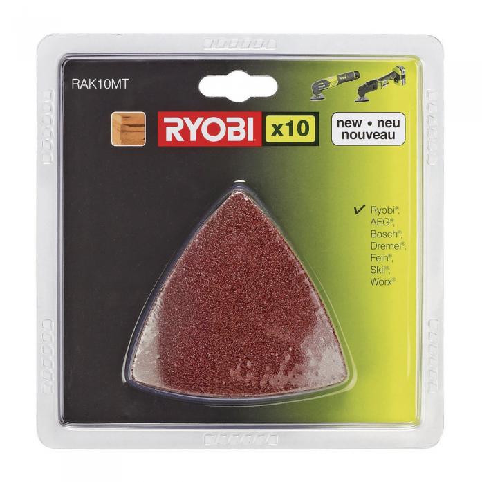 Набор шлифлистов RAK10MT 10 шт. Ryobi 2002600