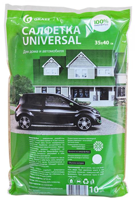 Салфетка GRASS 35*40см (10шт) IT-0307 из 100% микрофибры